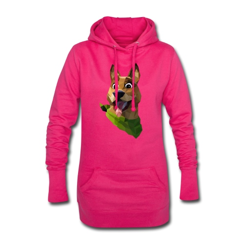 LOW POLY DOGO - Sweat-shirt à capuche long Femme