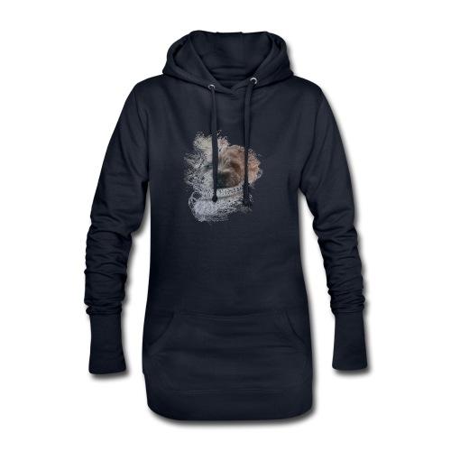 chien - Sweat-shirt à capuche long Femme