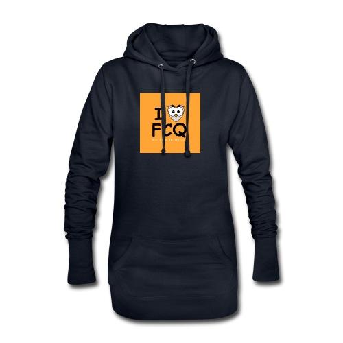 I Love FCQ button orange - Hoodie-Kleid