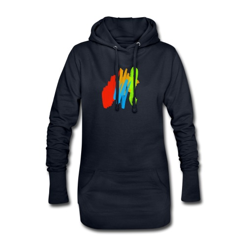 Farbspiel - Hoodie-Kleid