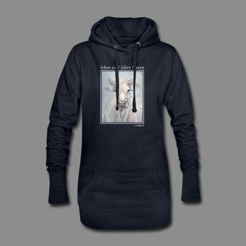 Kuh-Portrait - vegan - Hoodie-Kleid