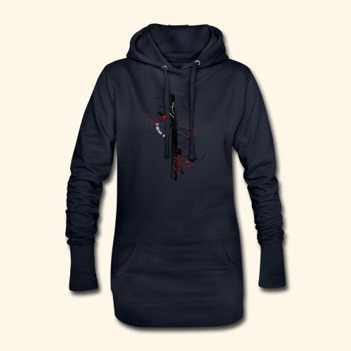 Papillonade - Sweat-shirt à capuche long Femme