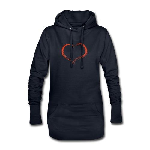 Only Heart Red - Hoodie-Kleid