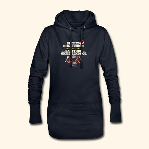 Grill T Shirt Grillen ohne Kohle cooler Spruch - Hoodie-Kleid