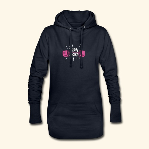VSK Lustiges GYM Shirt Iron Addict - Hoodie-Kleid