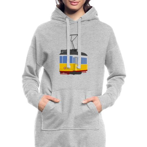 Tram car yellow - Hoodie Dress