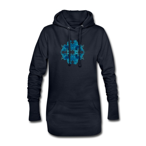 Tintenklecks unter Wasser - Hoodie-Kleid