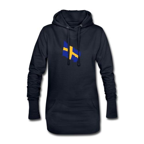 Flagge Schwedenflagge flatternd, Sweden Sverige - Hoodie-Kleid