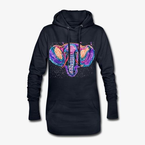 Elefante - Sudadera vestido con capucha