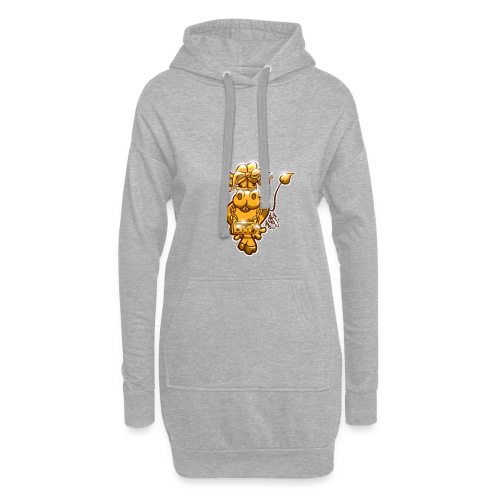 Goldene Gangster Kuh / Gold Thug Cow - Hoodie-Kleid