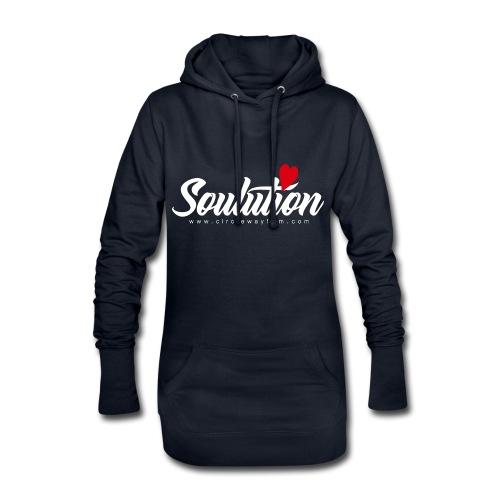 Soulution Logo – weiß - Hoodie-Kleid