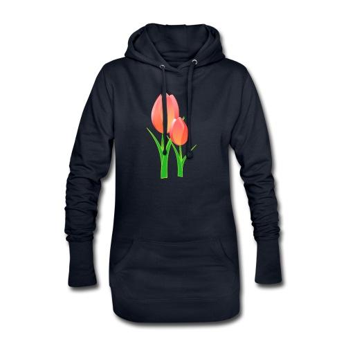 Belle fleur - Sweat-shirt à capuche long Femme