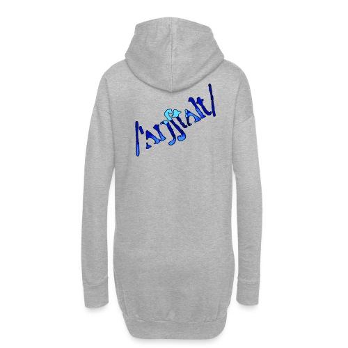 /'angstalt/ logo gerastert (blau/schwarz) - Hoodie-Kleid