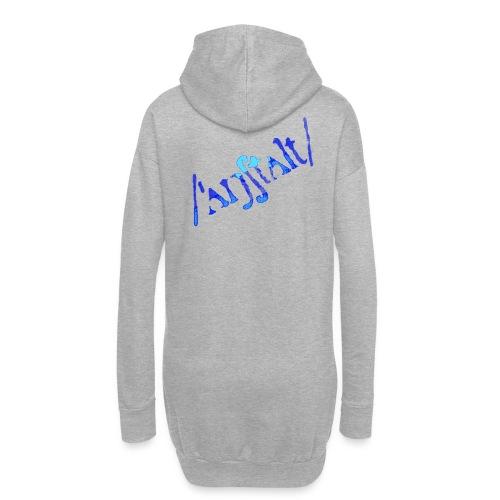 /'angstalt/ logo gerastert (blau/transparent) - Hoodie-Kleid