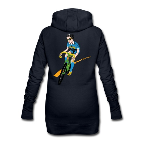 The Bicycle Girl - Hoodie-Kleid