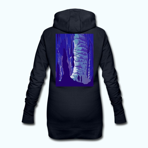 Fancy Grotto Vintage Travel Poster - Hoodie Dress
