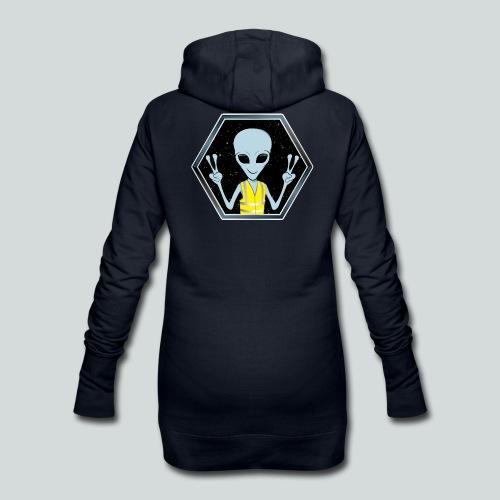 Extraterrestre Gilet jaune - Sweat-shirt à capuche long Femme