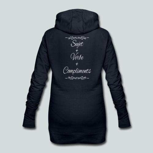 Sujet+verbe+compliments - Sweat-shirt à capuche long Femme