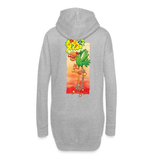 Furious parrot saying bad words - Hoodie Dress