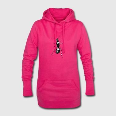 schwarze Ameise - Hoodie-Kleid