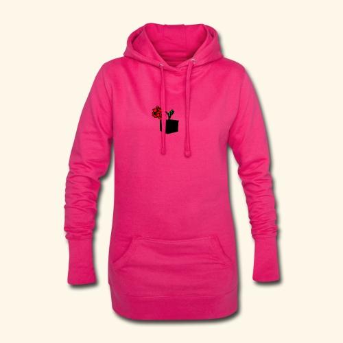 rose cube - Sweat-shirt à capuche long Femme