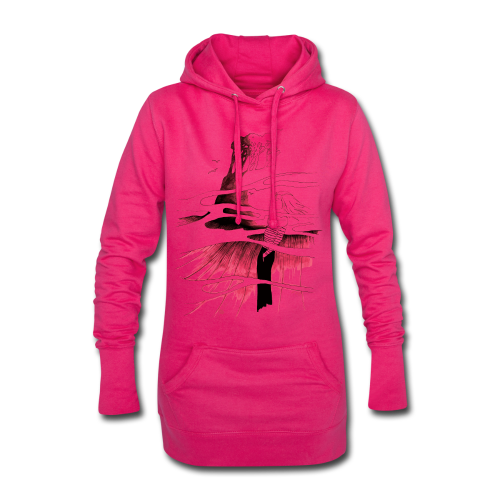 Ein Ort (rot) - Hoodie-Kleid