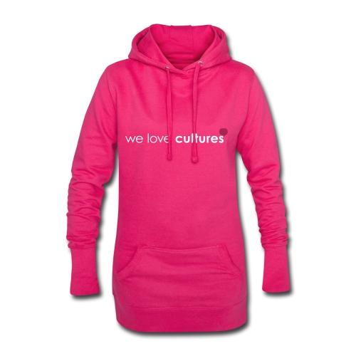 we love cultures - weiß und magenta - Hoodie-Kleid