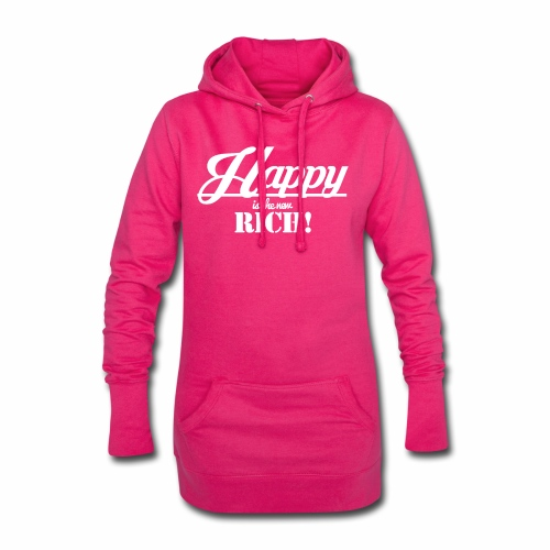 Happy is the new rich - Hoodie-Kleid