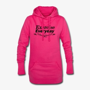 Exercise Everyday text - Hoodiejurk