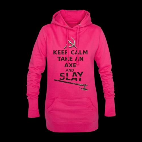Keep Calm Take an Axe and Slay -couleur - Sweat-shirt à capuche long Femme