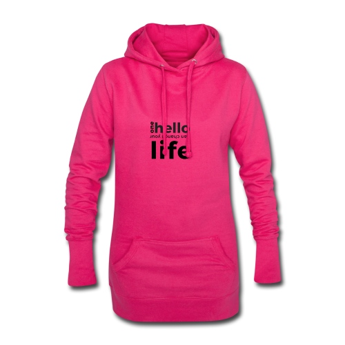 one hello can change your life - Hoodie-Kleid