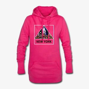 Triangle sur New York - Sweat-shirt à capuche long Femme