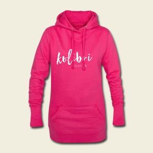 Logo Kolibri Design weiss - Hoodie-Kleid