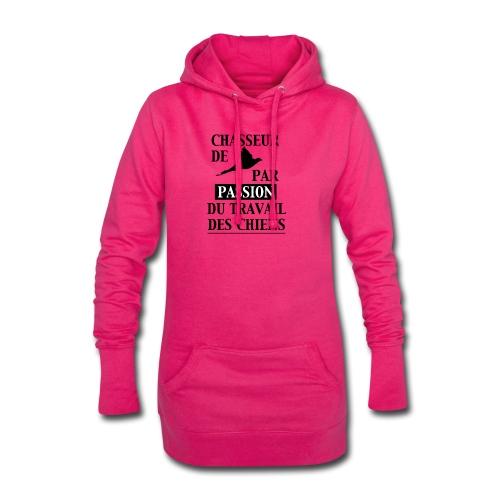 Chasseur de faisan - passion des chiens de chasse - Sweat-shirt à capuche long Femme
