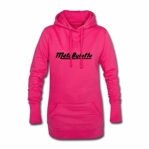 Logo MetaBylette - Sweat-shirt à capuche long Femme