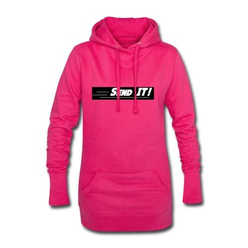 send it logo black and white - Hoodie Dress