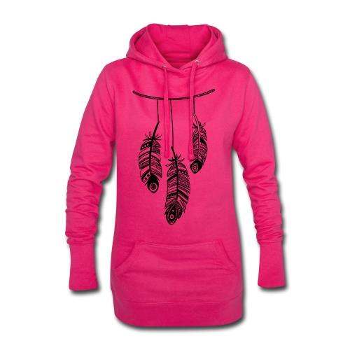 plumas - Sudadera vestido con capucha