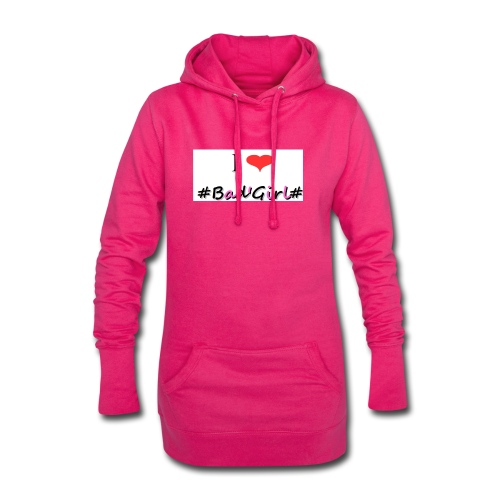 Collection Hastag I love bad girl - Sweat-shirt à capuche long Femme