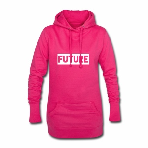 Future Clothing - Text Rectangle (White) - Hoodie Dress