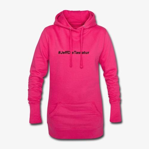 hashtag jeffdietastatur schwarz - Hoodie-Kleid