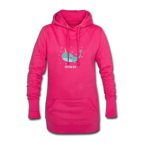 Ma baleine Dream Big - Sweat-shirt à capuche long Femme