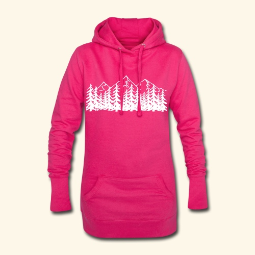 Berge Wälder weiß Mountains Woods - Hoodie-Kleid