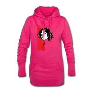 L'enfant rouge représente la terre rouge d'Afrique - Sweat-shirt à capuche long Femme