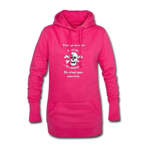 Trompe la mort «méchant» Test animal FC - Sweat-shirt à capuche long Femme