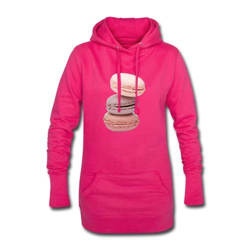 Macaron - Sweat-shirt à capuche long Femme