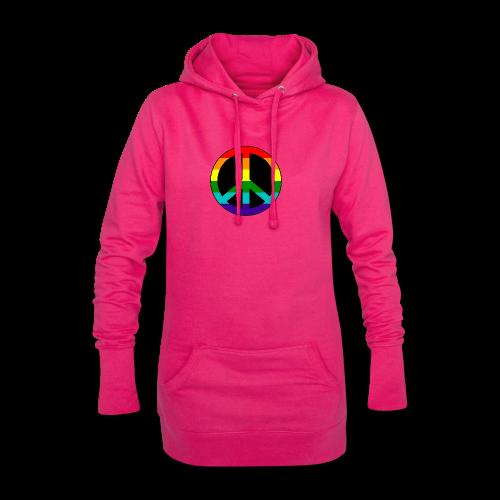 Gay pride peace symbool in regenboog kleuren - Hoodiejurk