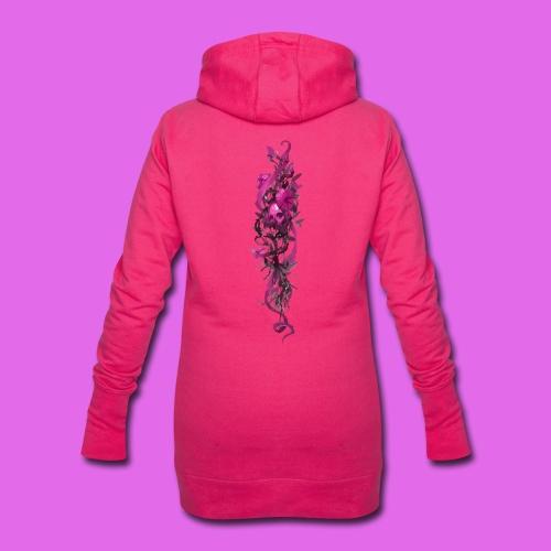 FlowerPower - Sweat-shirt à capuche long Femme