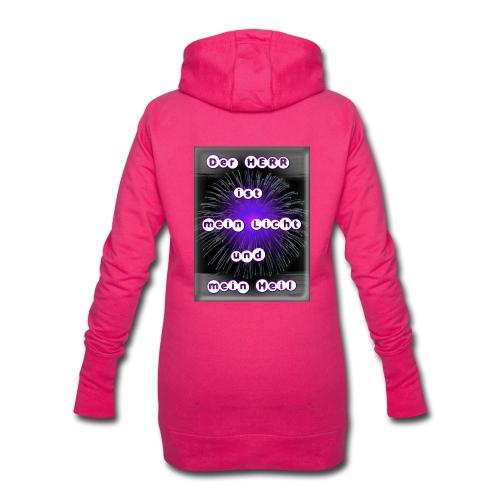 Mein Licht und mein Heil (purple) - Hoodie-Kleid