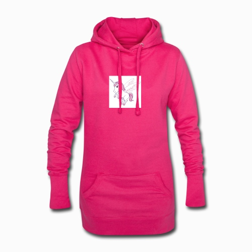 Petite licorne rose super mignonne!! - Sweat-shirt à capuche long Femme