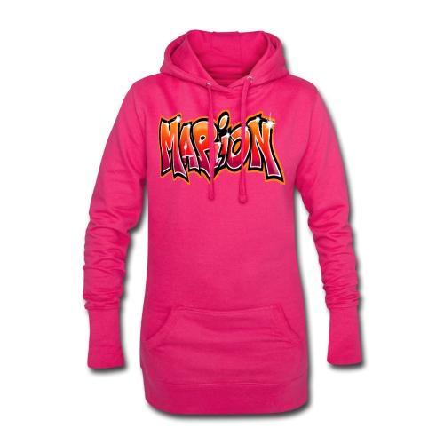 Graffiti Tag prenom name MARION - Sweat-shirt à capuche long Femme